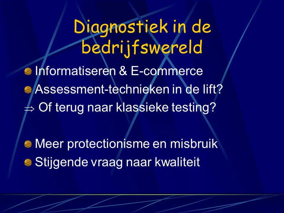 Diagnostiek in de bedrijfswereld