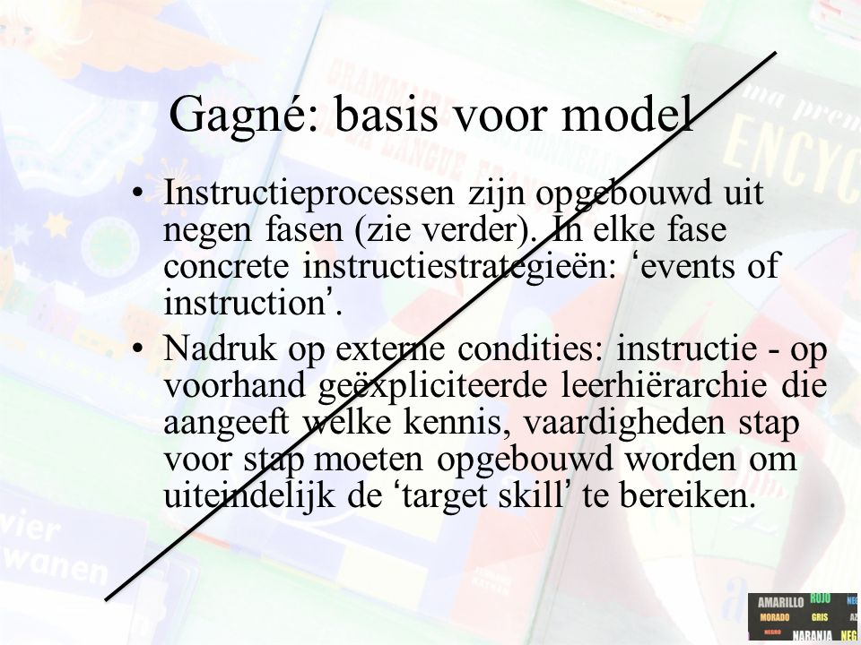 Gagné: basis voor model