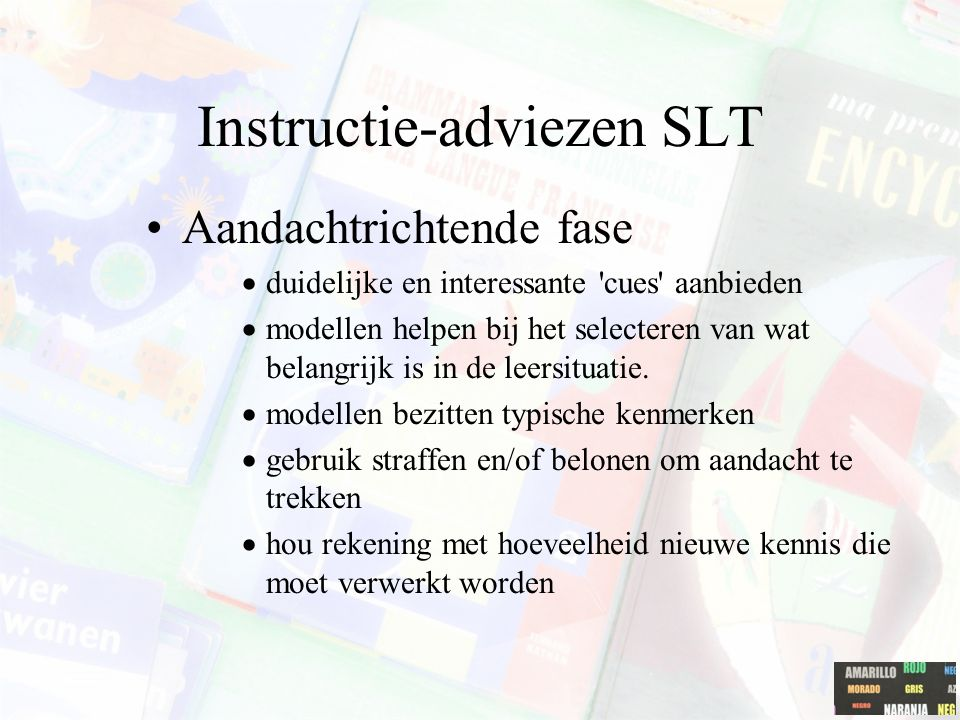 Instructie-adviezen SLT