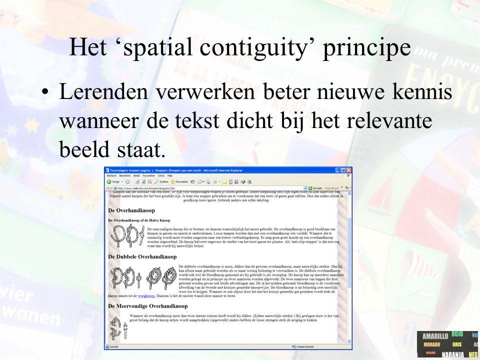 Het 'spatial contiguity' principe
