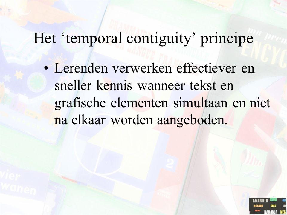 Het 'temporal contiguity' principe
