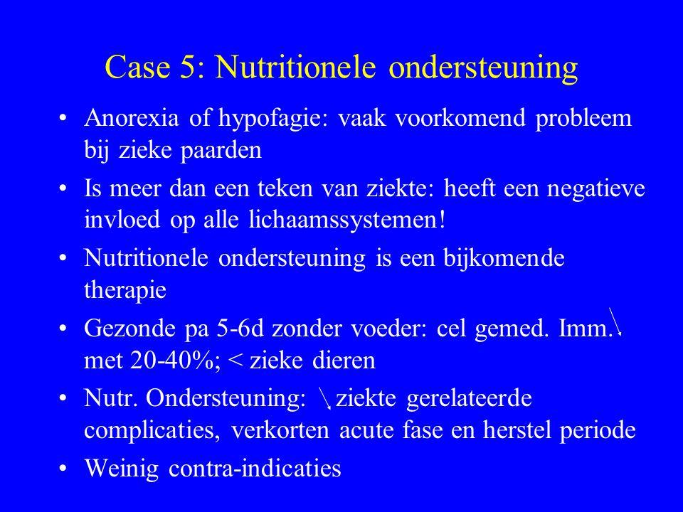 Case 5: Nutritionele ondersteuning