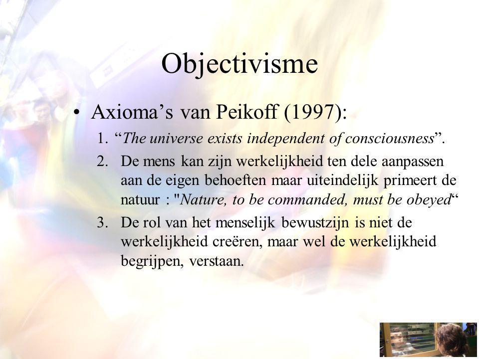 Objectivisme Axioma's van Peikoff (1997):