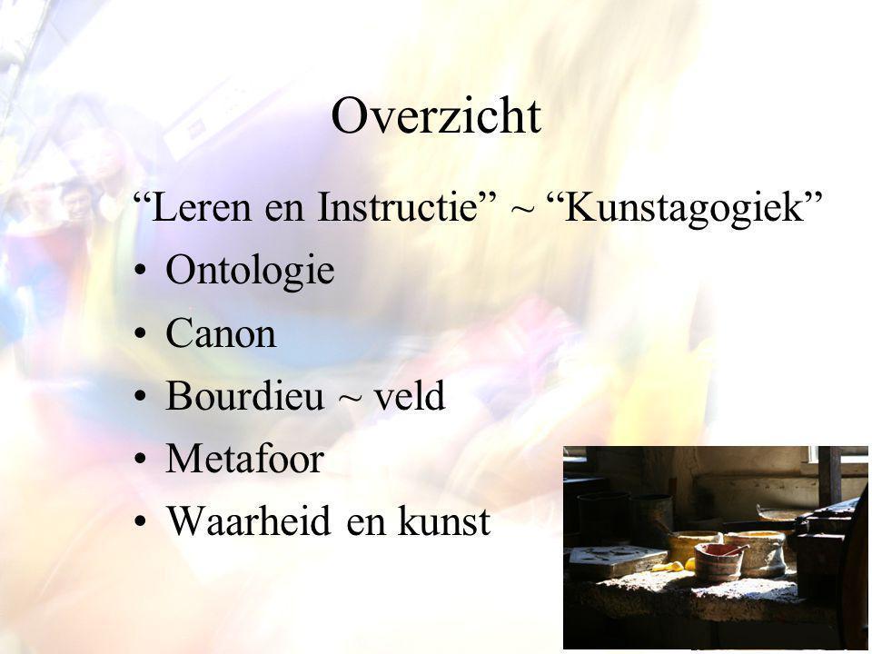 Overzicht Leren en Instructie ~ Kunstagogiek Ontologie Canon
