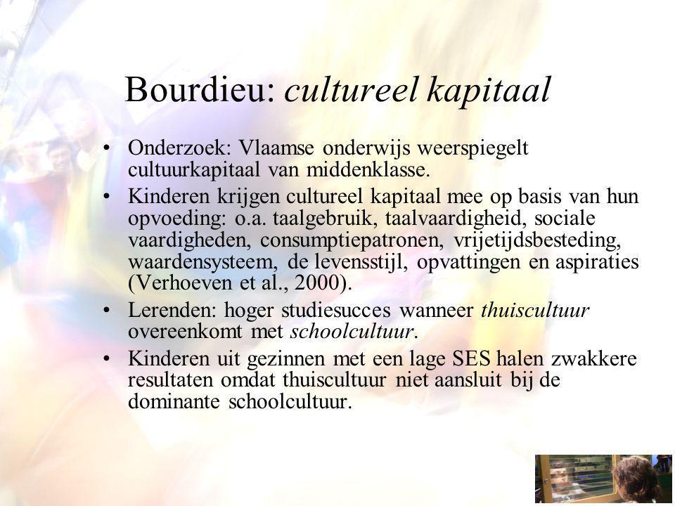 Bourdieu: cultureel kapitaal