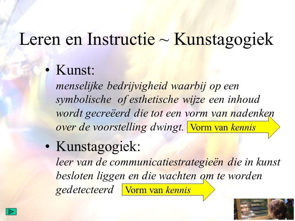Leren en Instructie ~ Kunstagogiek