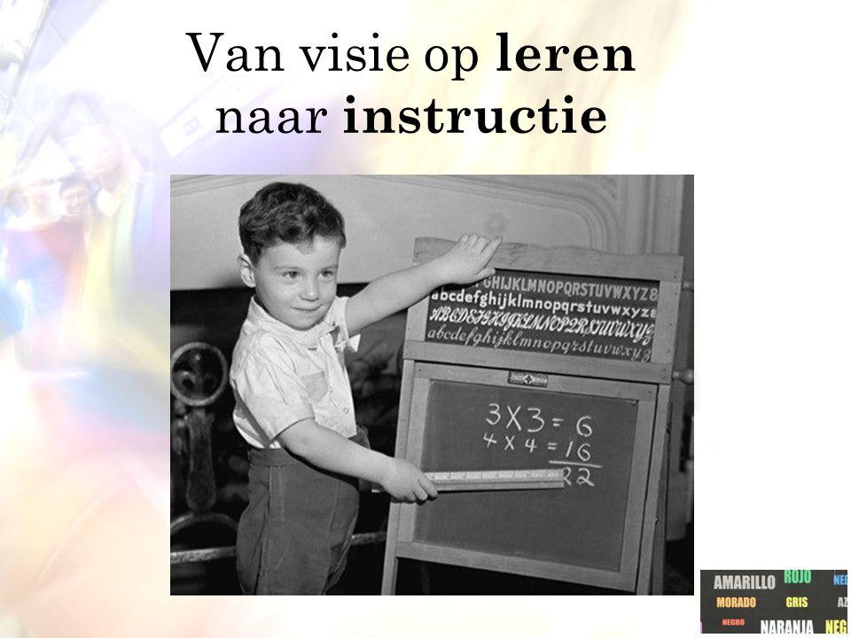 Van visie op leren naar instructie