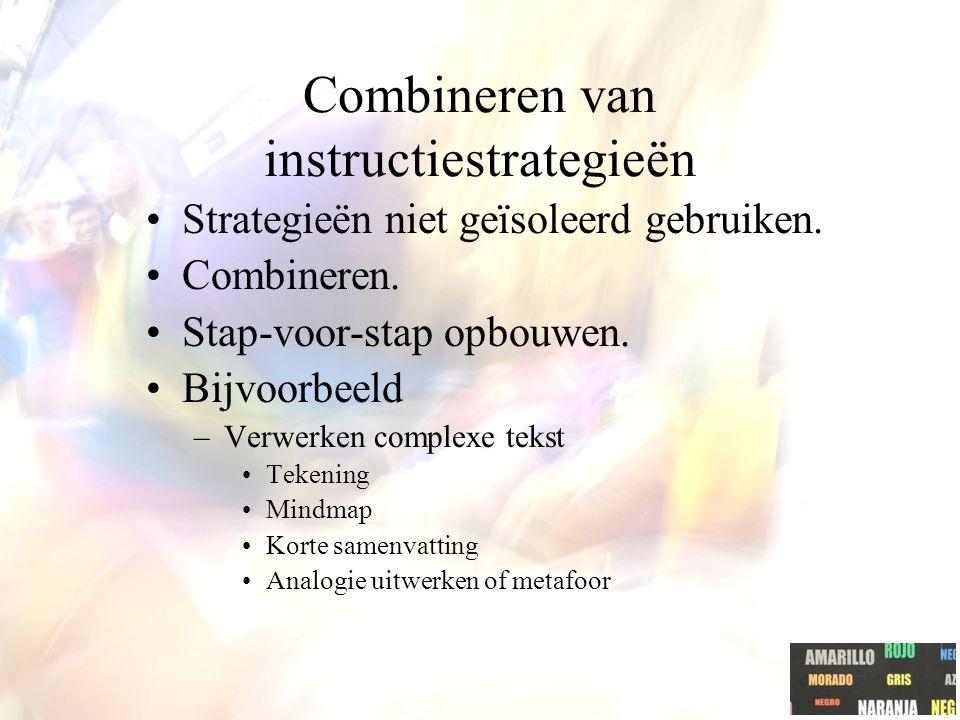 Combineren van instructiestrategieën