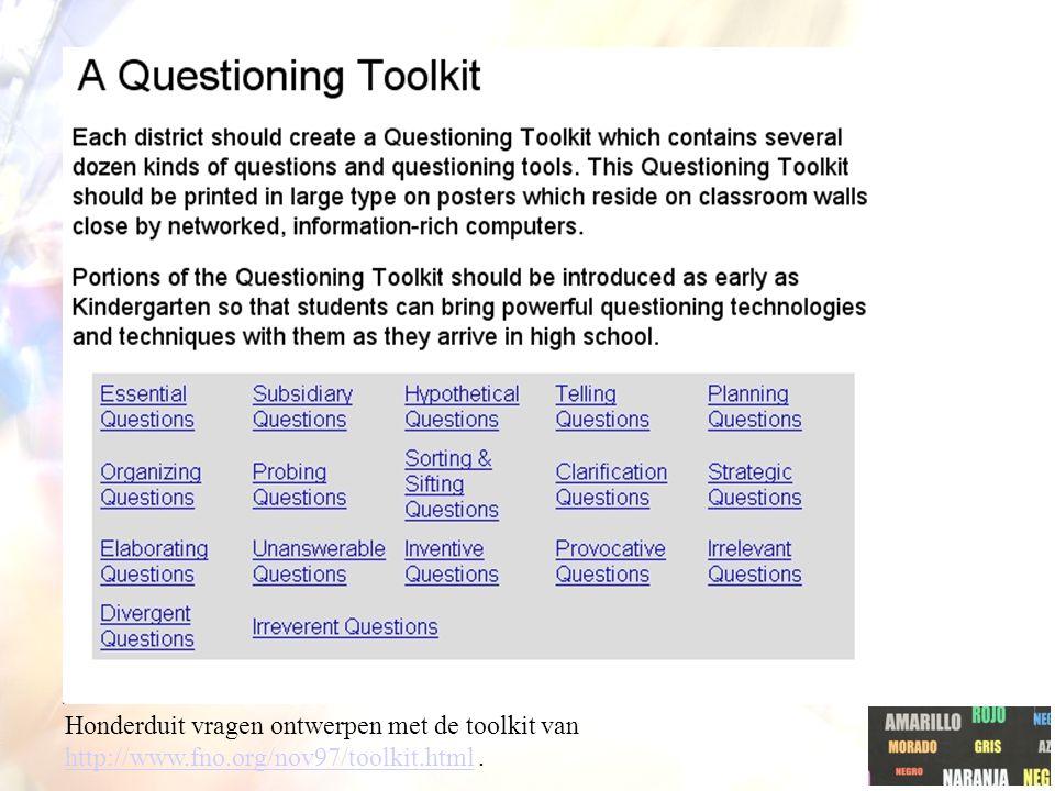 Honderduit vragen ontwerpen met de toolkit van http://www. fno