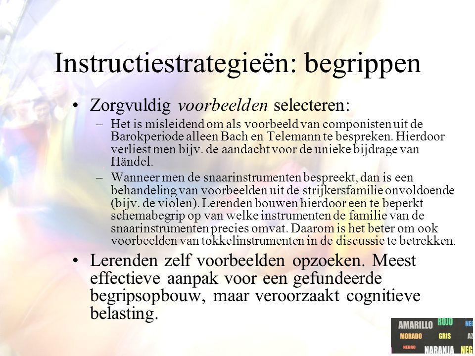 Instructiestrategieën: begrippen