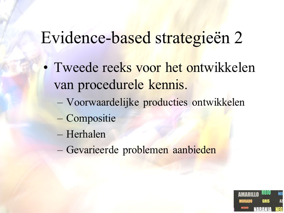 Evidence-based strategieën 2