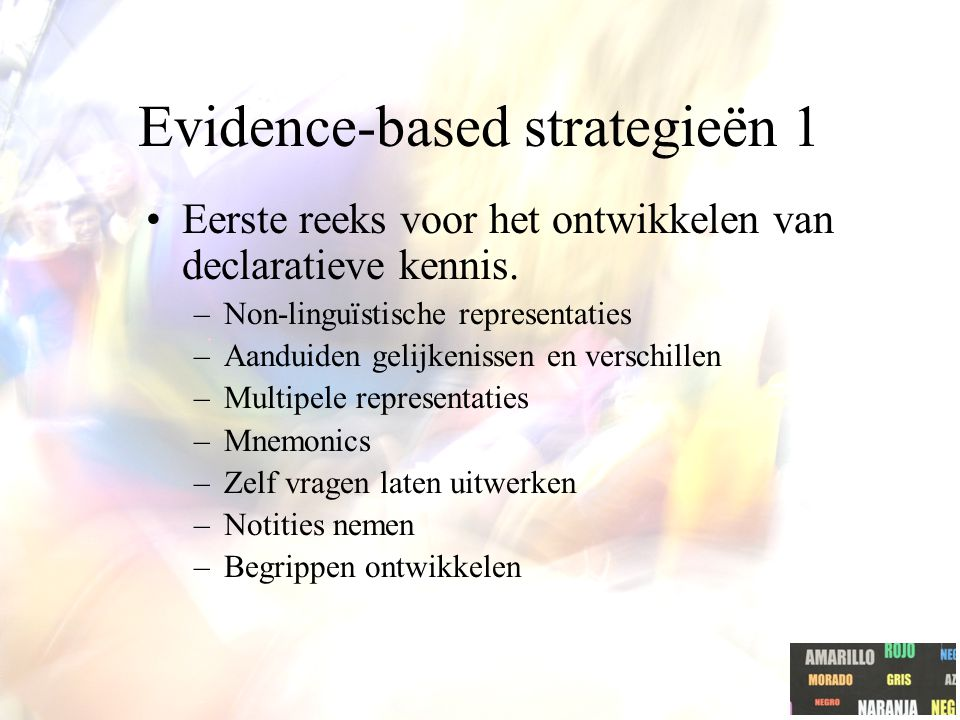 Evidence-based strategieën 1