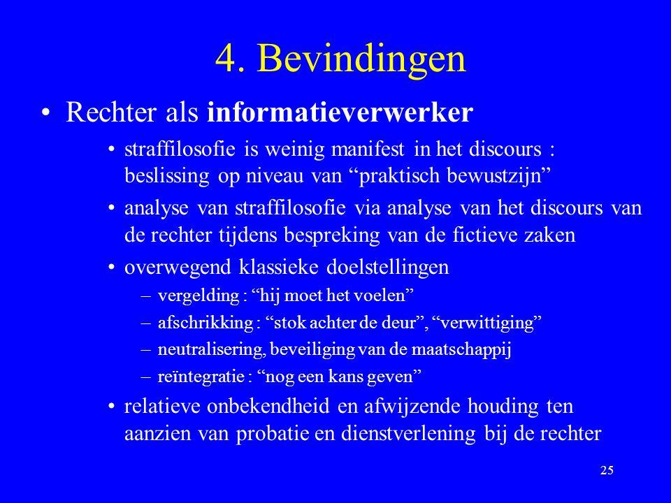 4. Bevindingen Rechter als informatieverwerker
