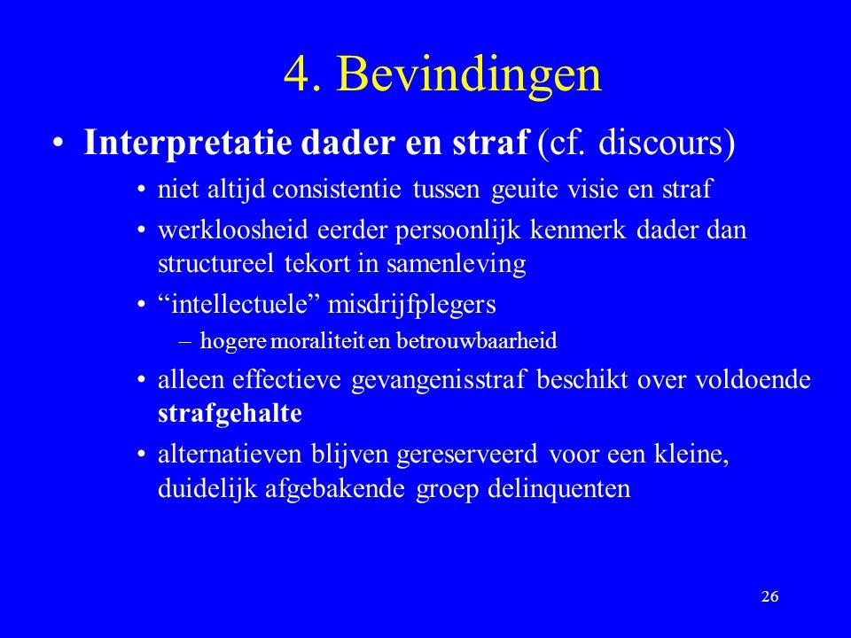 4. Bevindingen Interpretatie dader en straf (cf. discours)