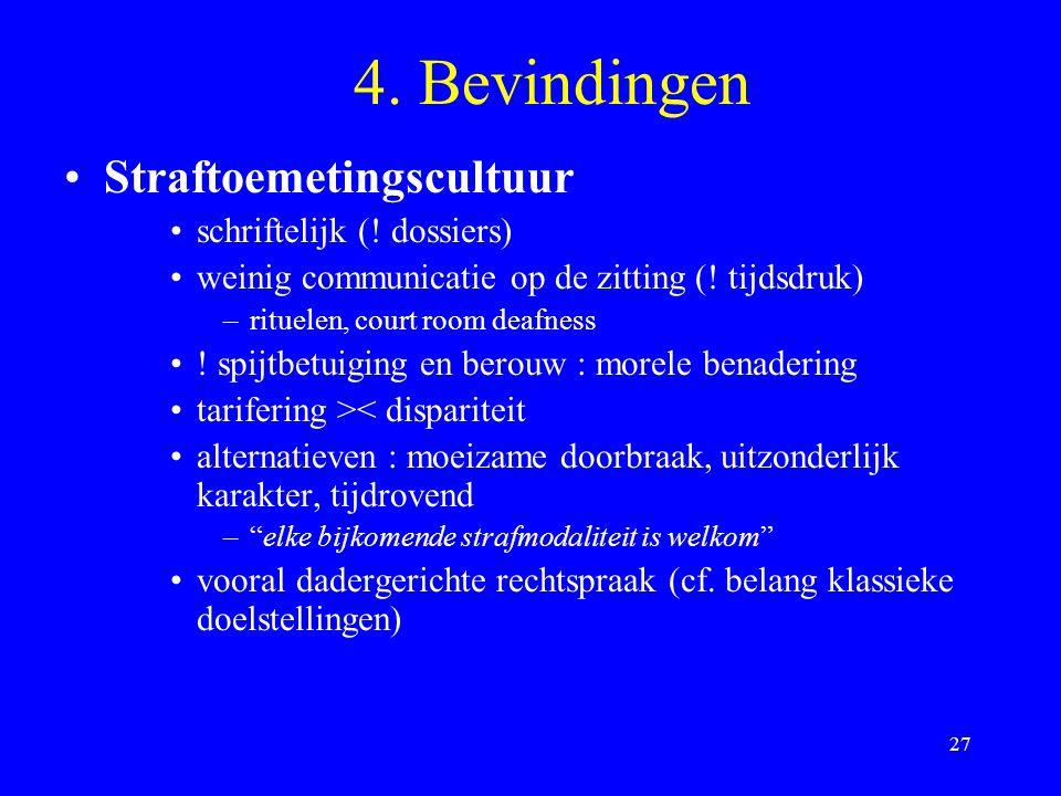 4. Bevindingen Straftoemetingscultuur schriftelijk (! dossiers)