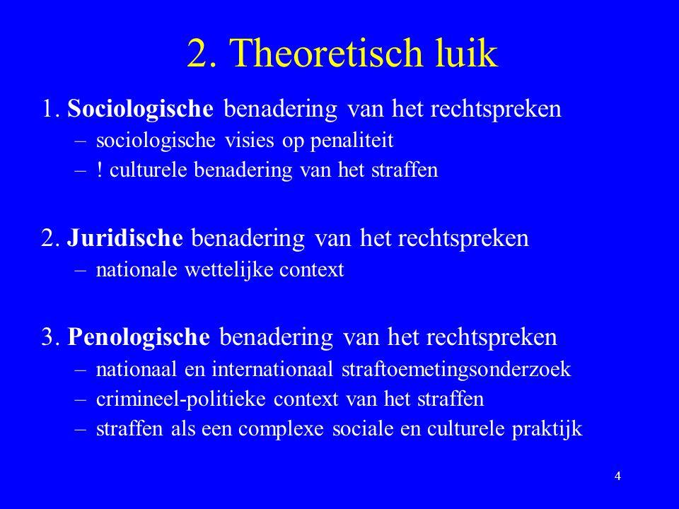 2. Theoretisch luik 1. Sociologische benadering van het rechtspreken