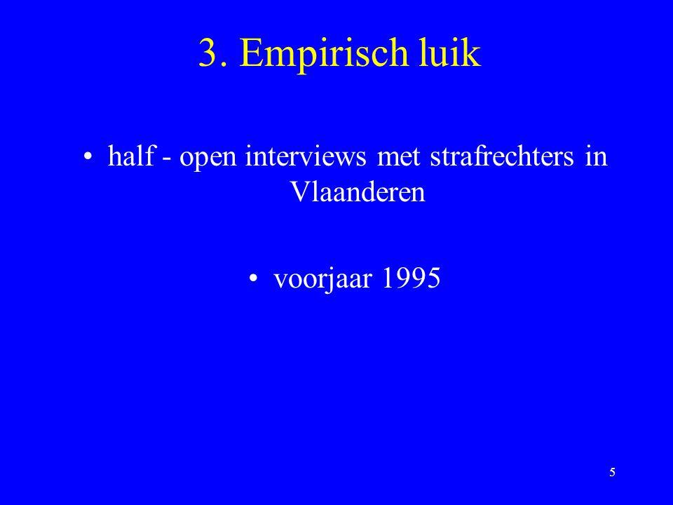 half - open interviews met strafrechters in Vlaanderen