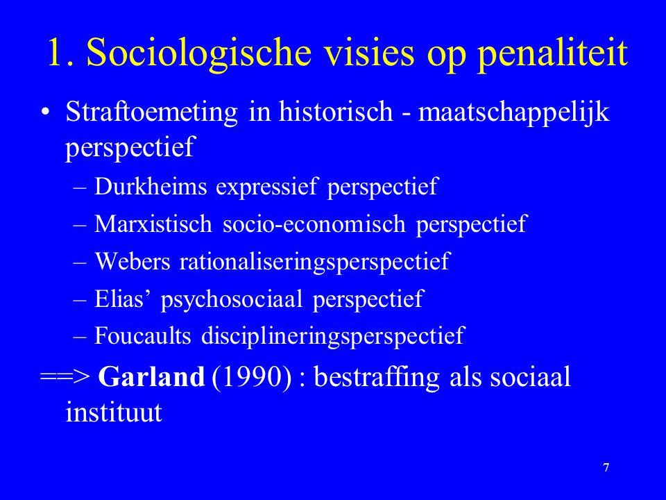1. Sociologische visies op penaliteit