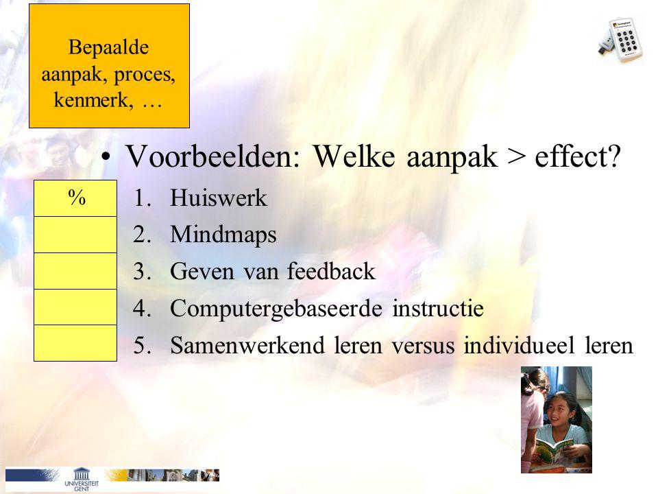 Bepaalde aanpak, proces, kenmerk, …