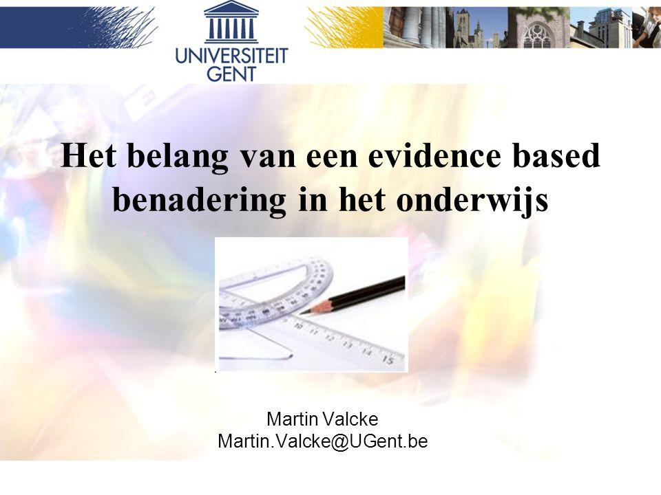 Het belang van een evidence based benadering in het onderwijs