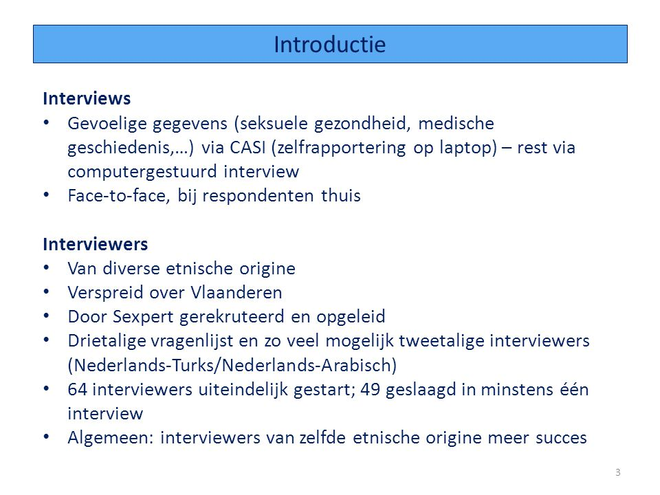 Introductie Interviews