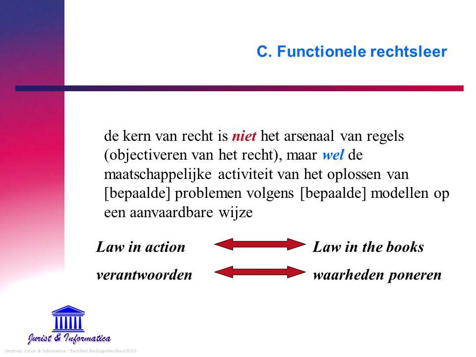 C. Functionele rechtsleer