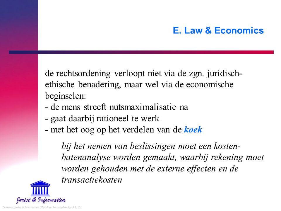 E. Law & Economics