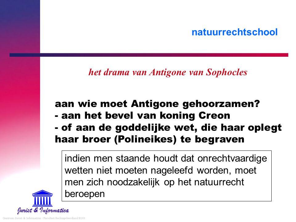 het drama van Antigone van Sophocles