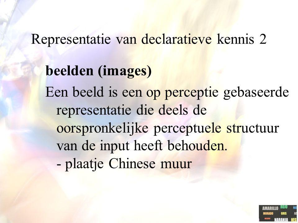 Representatie van declaratieve kennis 2