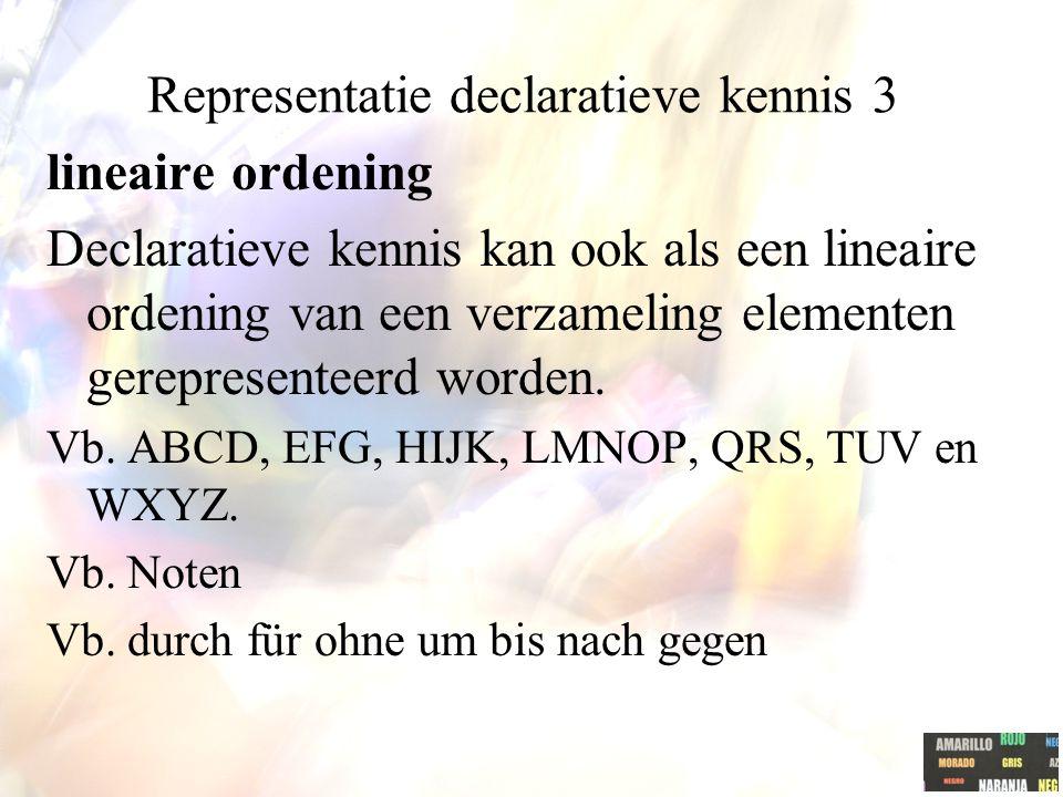 Representatie declaratieve kennis 3