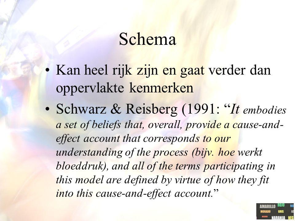 Schema Kan heel rijk zijn en gaat verder dan oppervlakte kenmerken