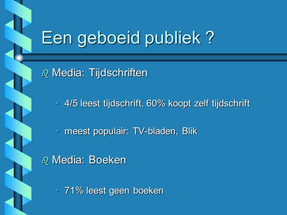 Een geboeid publiek Media: Tijdschriften Media: Boeken