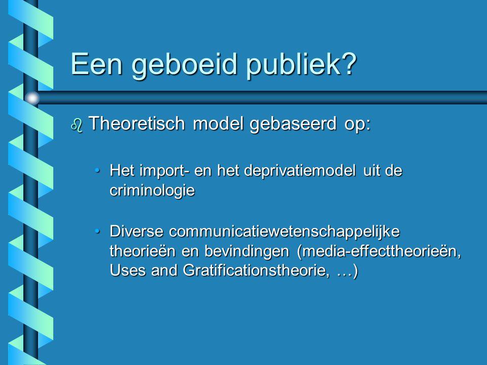 Een geboeid publiek Theoretisch model gebaseerd op: