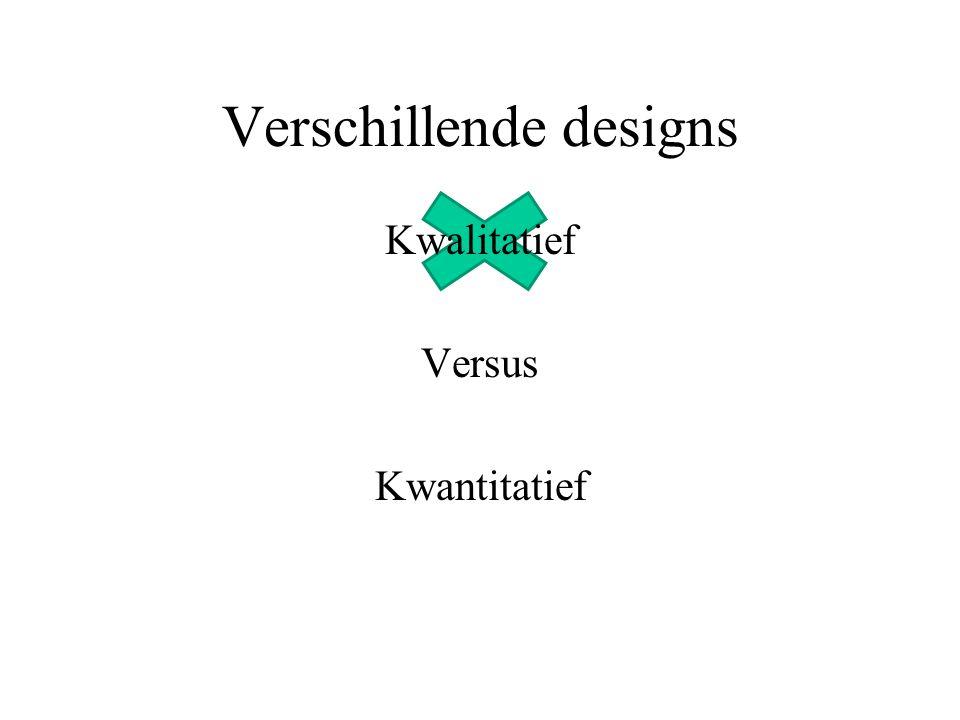 Verschillende designs