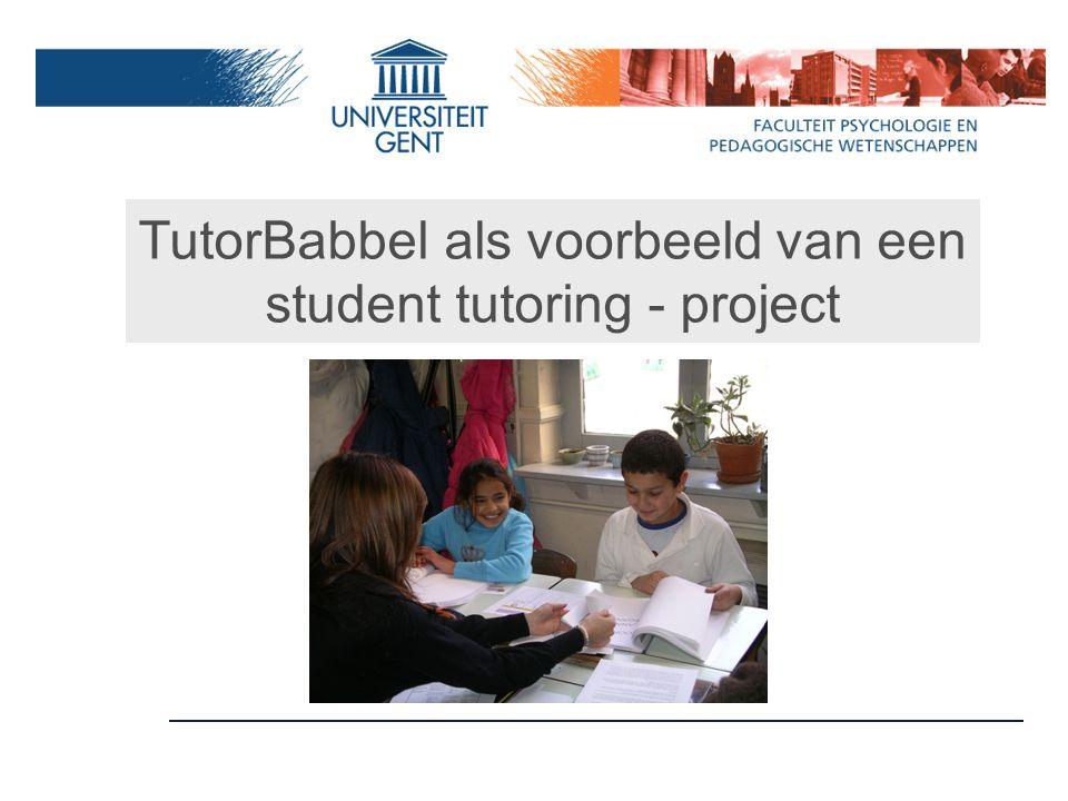 TutorBabbel als voorbeeld van een student tutoring - project