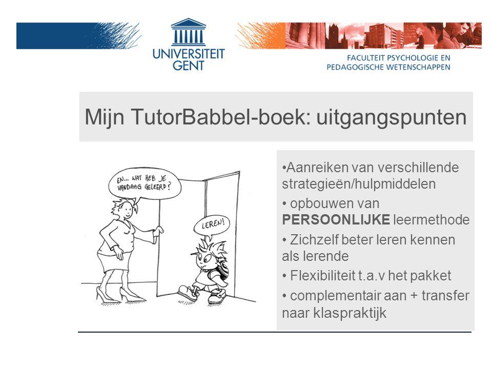 Mijn TutorBabbel-boek: uitgangspunten