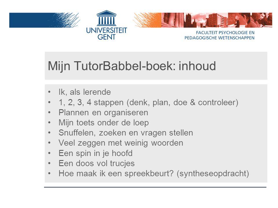 Mijn TutorBabbel-boek: inhoud