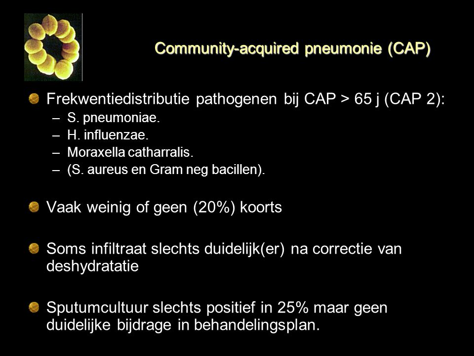 Community-acquired pneumonie (CAP)