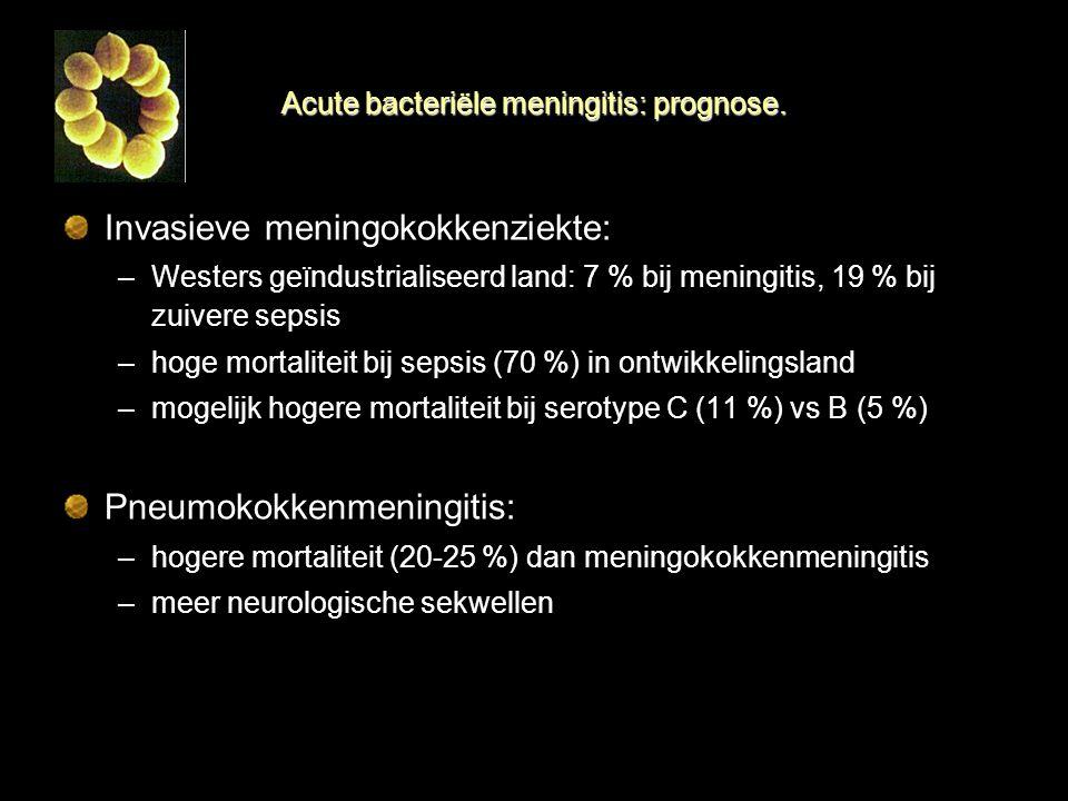 Acute bacteriële meningitis: prognose.