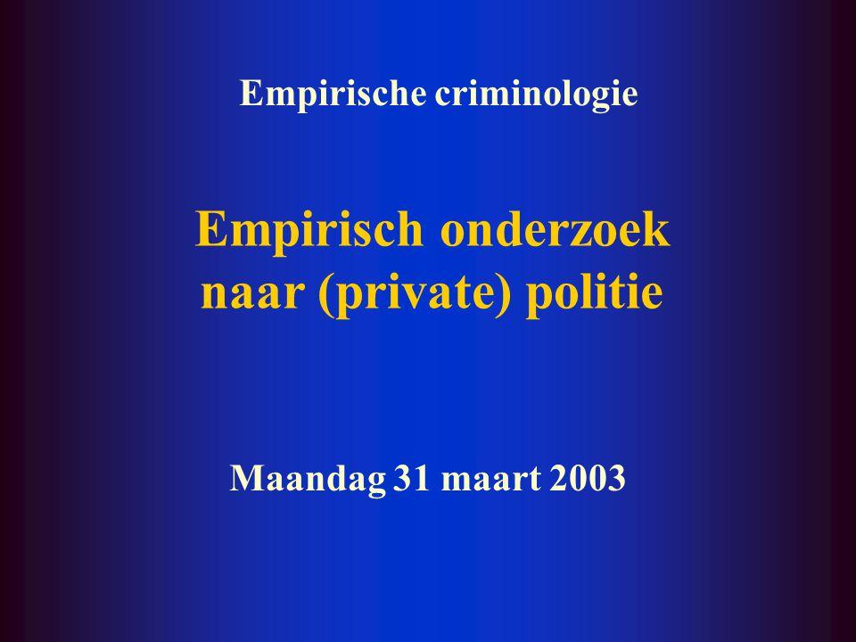 Empirisch onderzoek naar (private) politie