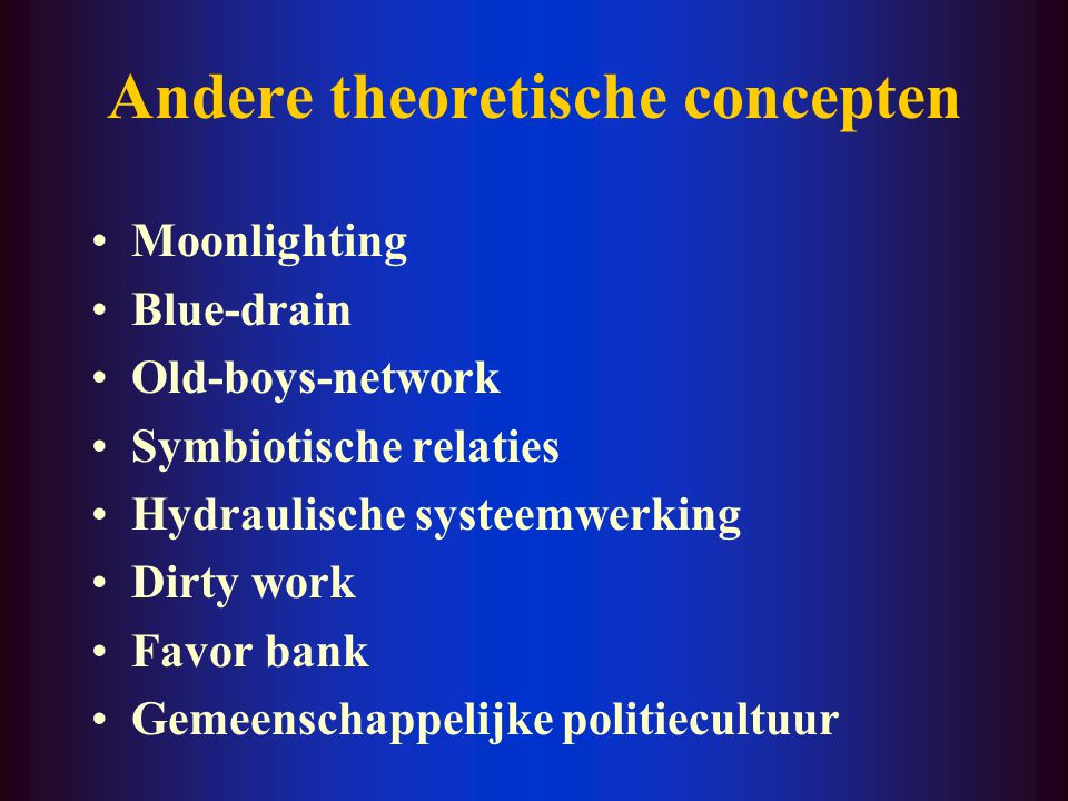 Andere theoretische concepten