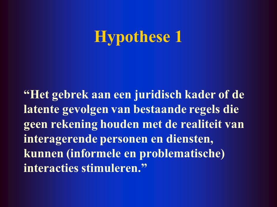 Hypothese 1
