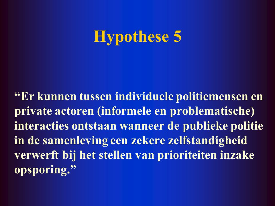 Hypothese 5