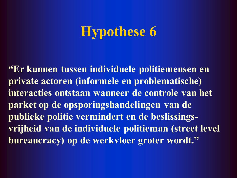 Hypothese 6