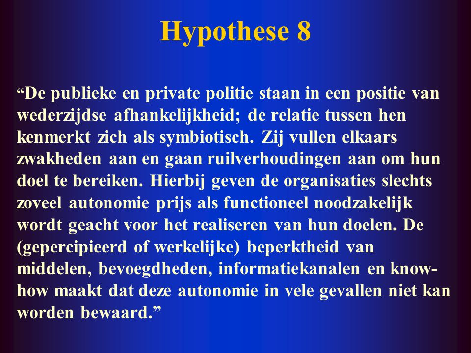Hypothese 8