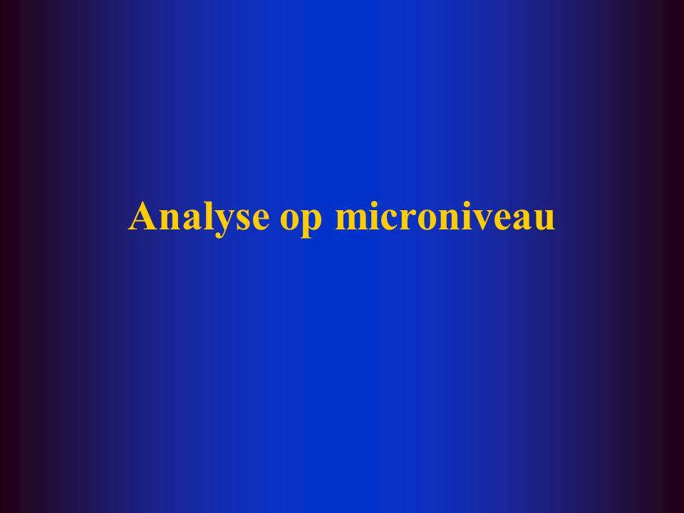 Analyse op microniveau