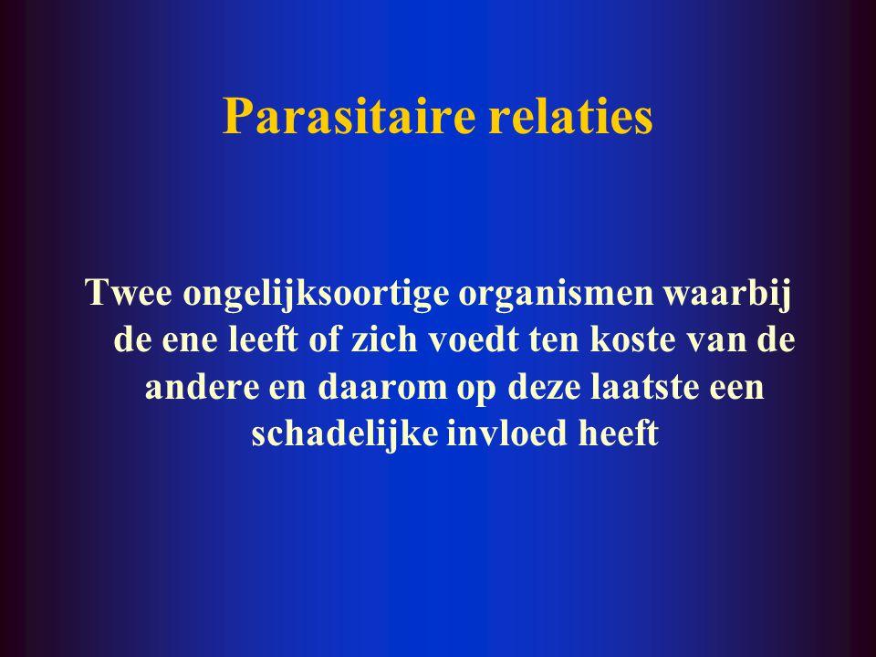 Parasitaire relaties