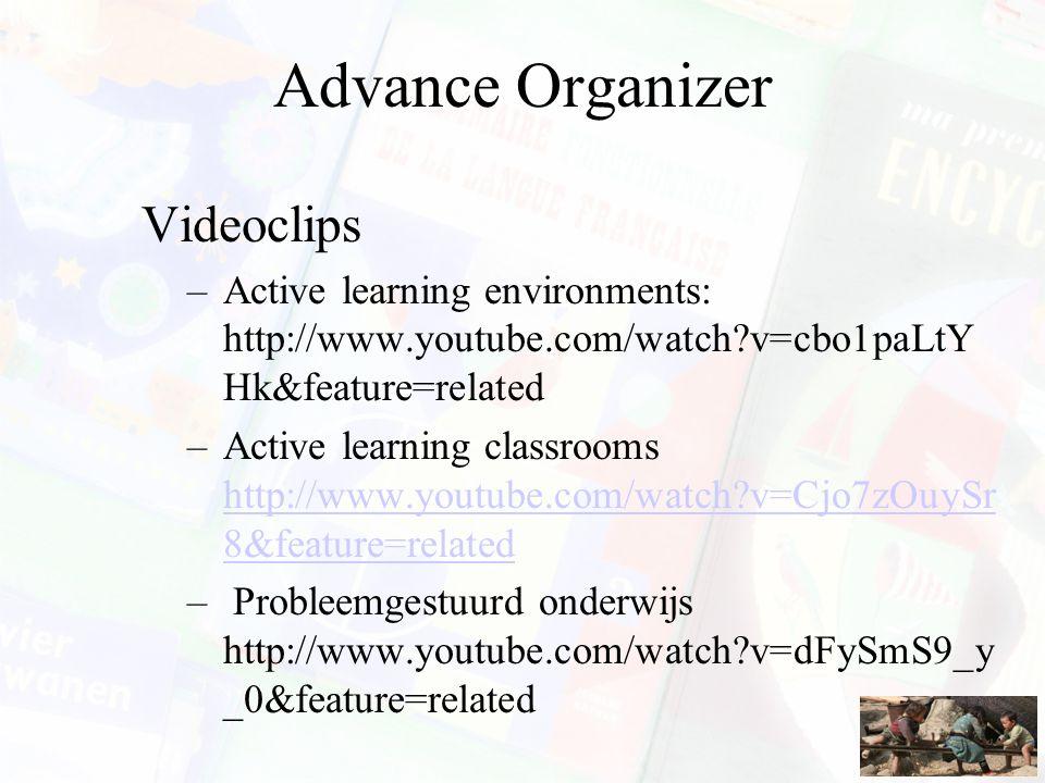 Advance Organizer Videoclips