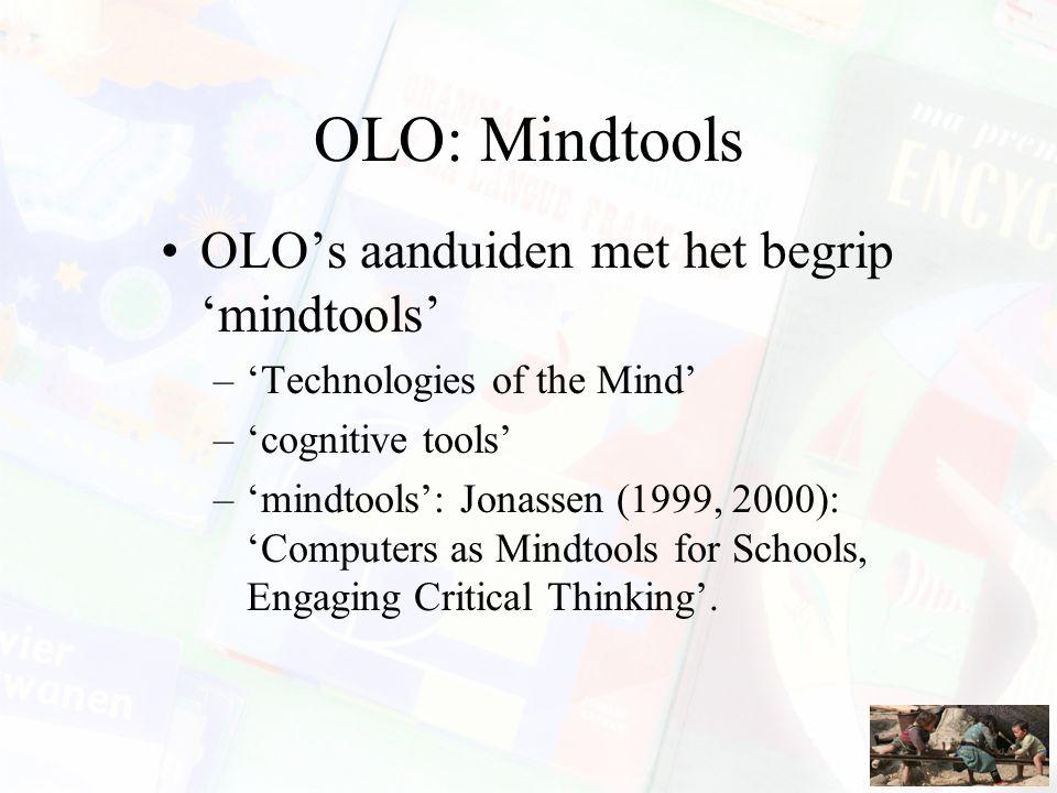 OLO: Mindtools OLO's aanduiden met het begrip 'mindtools'