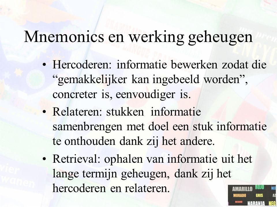 Mnemonics en werking geheugen
